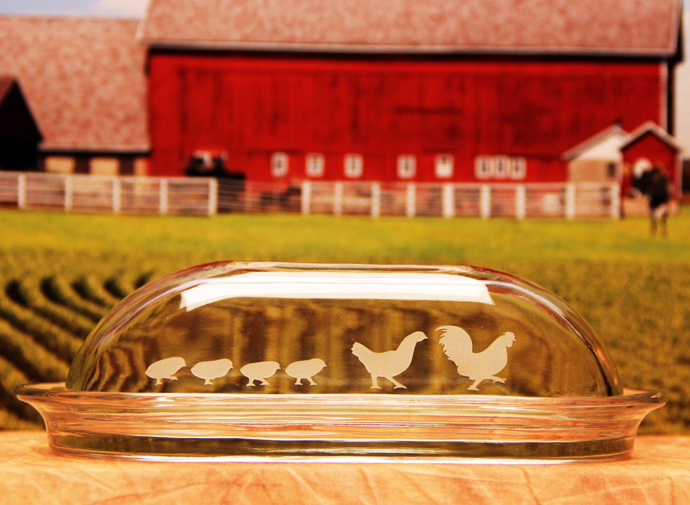 Chicken Family Butter Dish