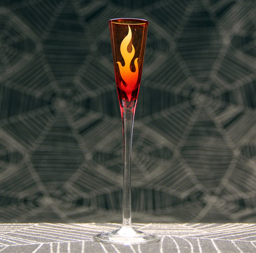 Flaming Cordial Glass