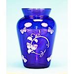 Blue Butterfly Vase