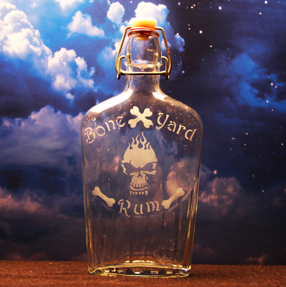 Boneyard Rum Bottle