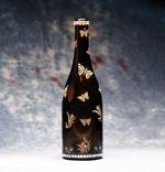 Bejeweled Butterfly Wine Bottle