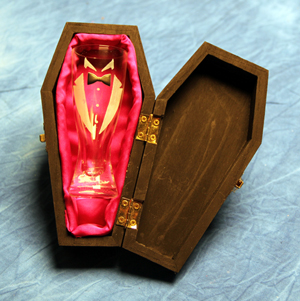Dracula Shot Glass and Coffin Case