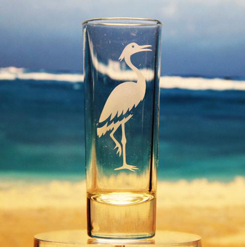 Crane Shot Glass