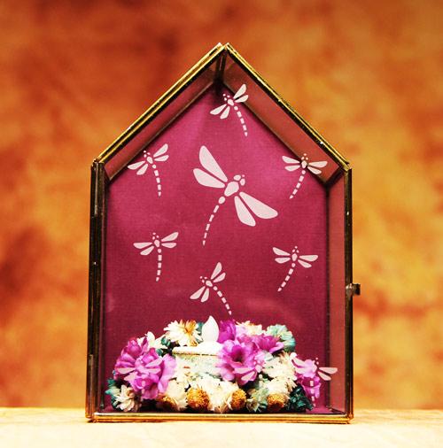 Dragonfly Tealight Terrarium