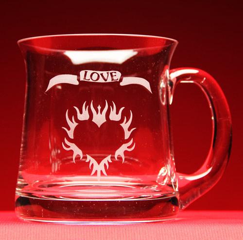 Flaming Heart Love Mug
