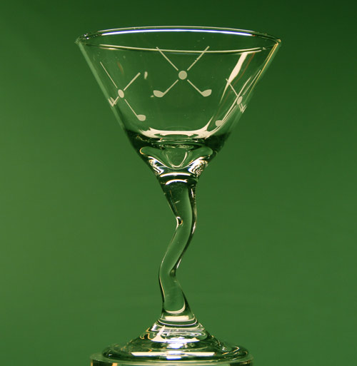 Golf Martini Glass