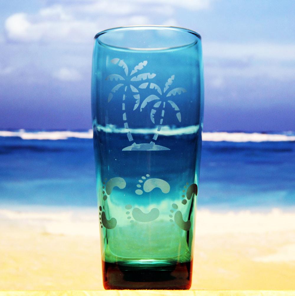 Beach Walk Green Glass