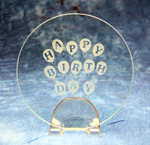 Happy Birthday Balloon Plate