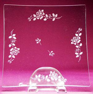 Long Stem Rose Platter