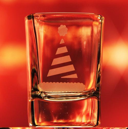 Elf Hat Shot Glass
