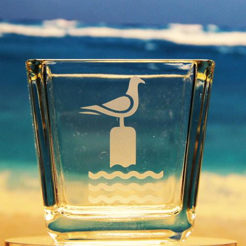 Perched Seagull Votive