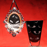 Spooky Eyes Mirror and Vase