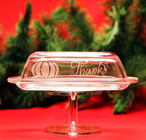 Give Thanks Butter Dish