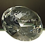 Marry Me Diamond Paperweight