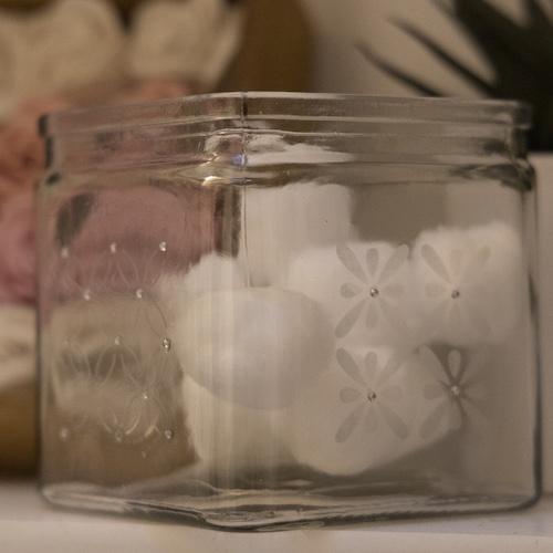 Fancy Flower Cube Vase