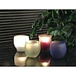 Frosted candle holders