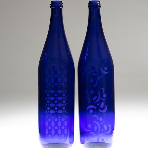 Rocking Retro Blue Bottles