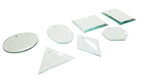 Thick Beveled Glass Ornaments