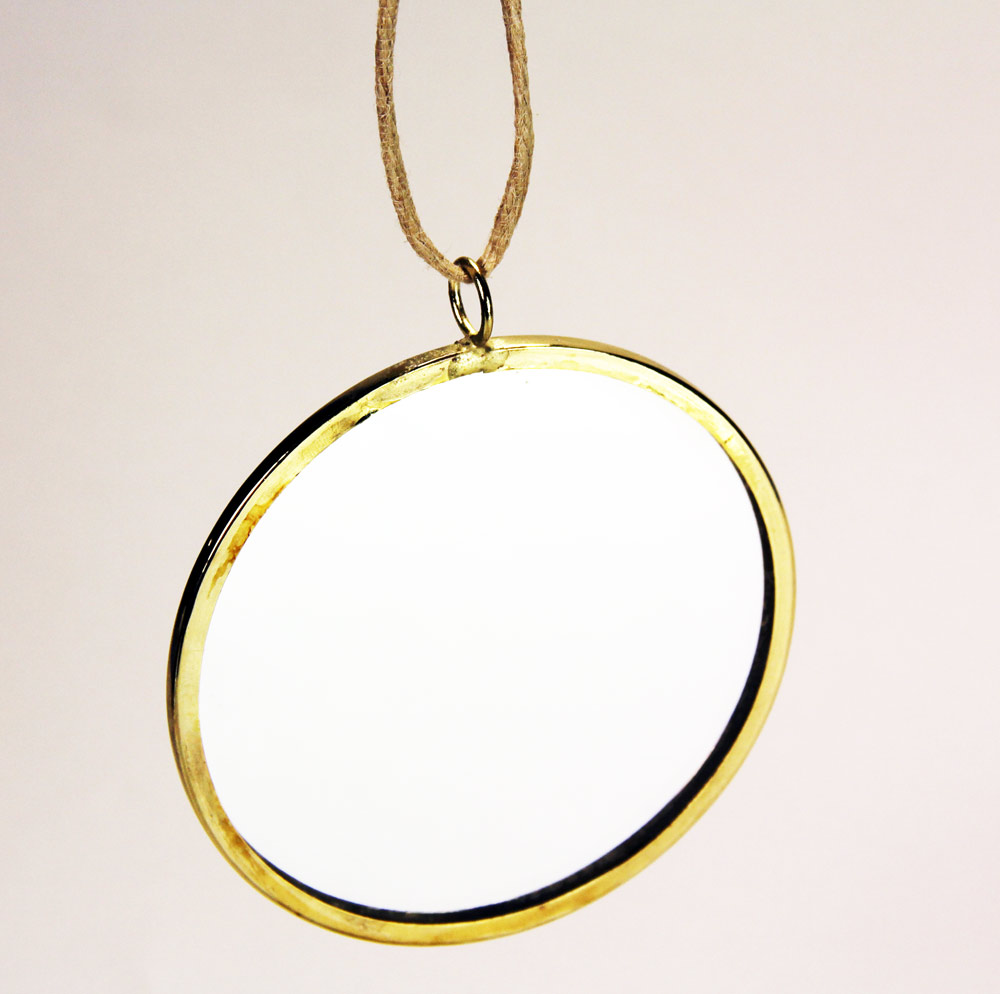 Circle Mirror Framed with Hanger