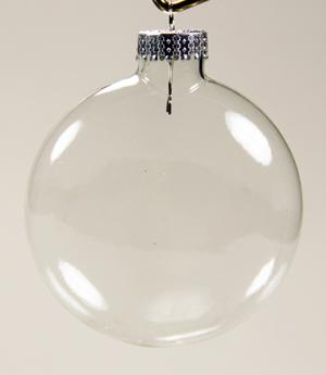 29 2537 Flat 80 Mm Clear Glass Balls