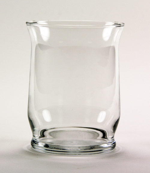 Clear Hurricane Candle/Vase 4.375""