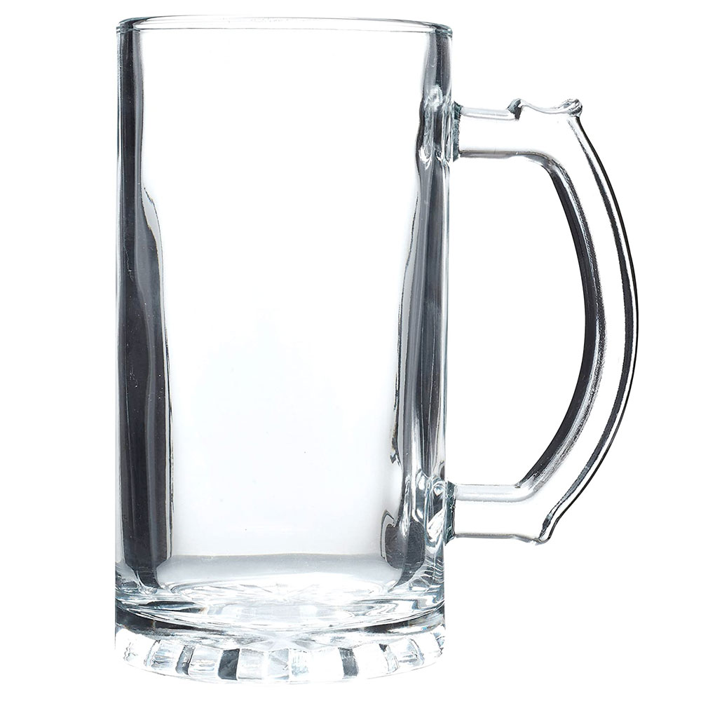 Clear Glass Mug 27.25 ozs, 2 pc set