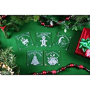 60-3910C - Limited Time Christmas Etchable Square Coaster