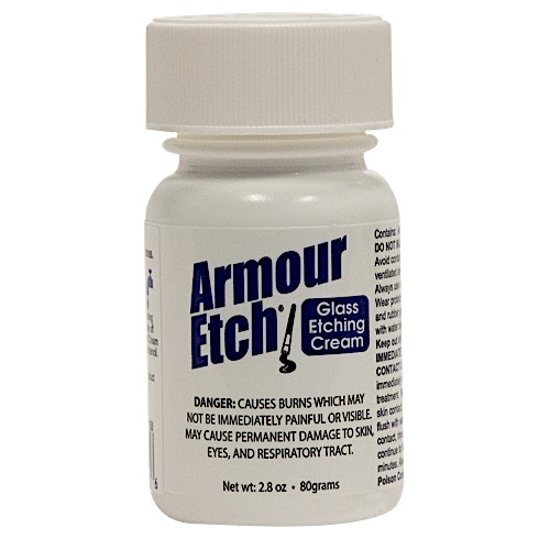 2.8 oz  Armour Etch Glass Etching Cream