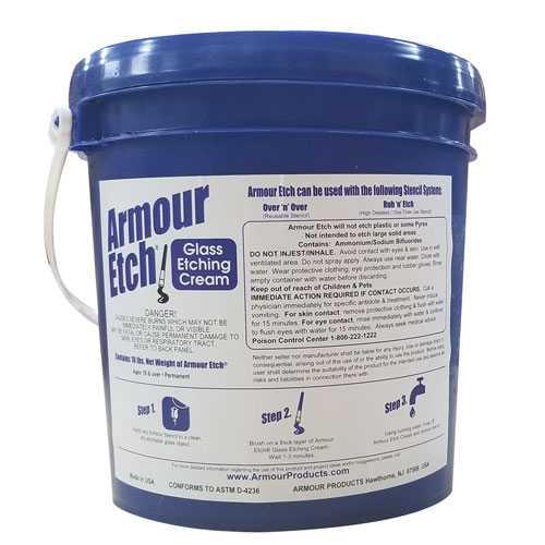 15-0900 - 5 gal Pail Armour Etch Glass Etching Cream