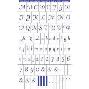 Script Full Alphabet with numbers