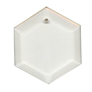 "Clear-3.5"" Hexagon Thick Bevel"