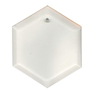 "29-2472 - Clear-5"" Hexagon Thick Bevel"