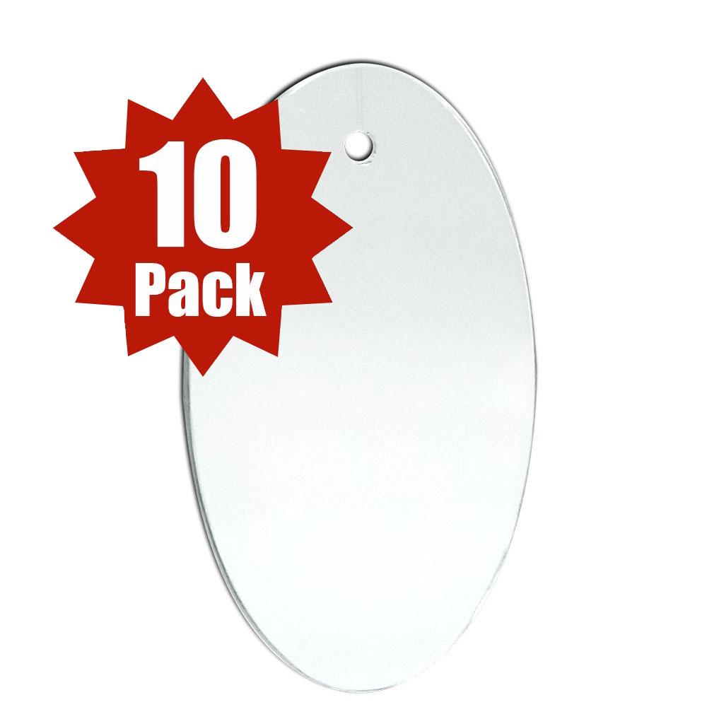 Oval Shape (10 Pack)