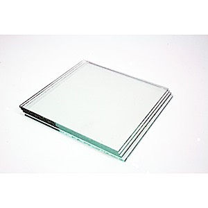 Clear Glass Square 4 pak  No Holes
