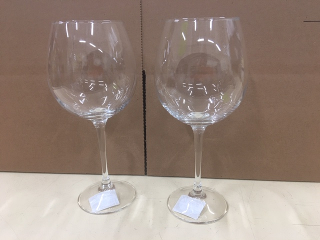 Clear Red Wine Glass 20 oz  Set of 2pc