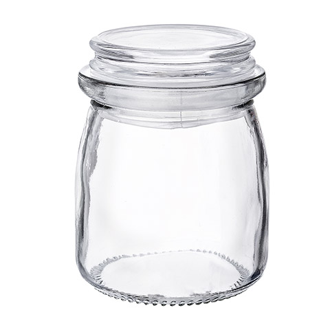 Glass Jar with  glass Lid