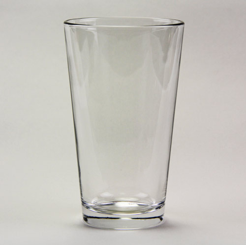 Clear Drinking Glass 16 oz