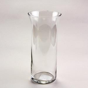 "Clear Vase w Flared Rim 9"""