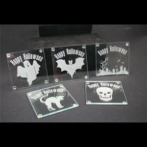 Limited Time Halloween Etchable Square Coaster