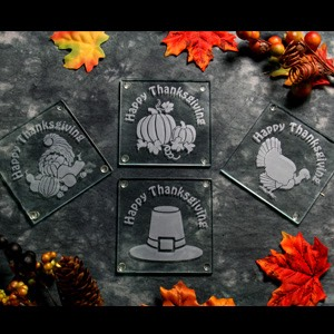 Limited Time Thanksgiving Etchable Square Coaster