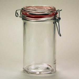 Glass Jar with locking lid