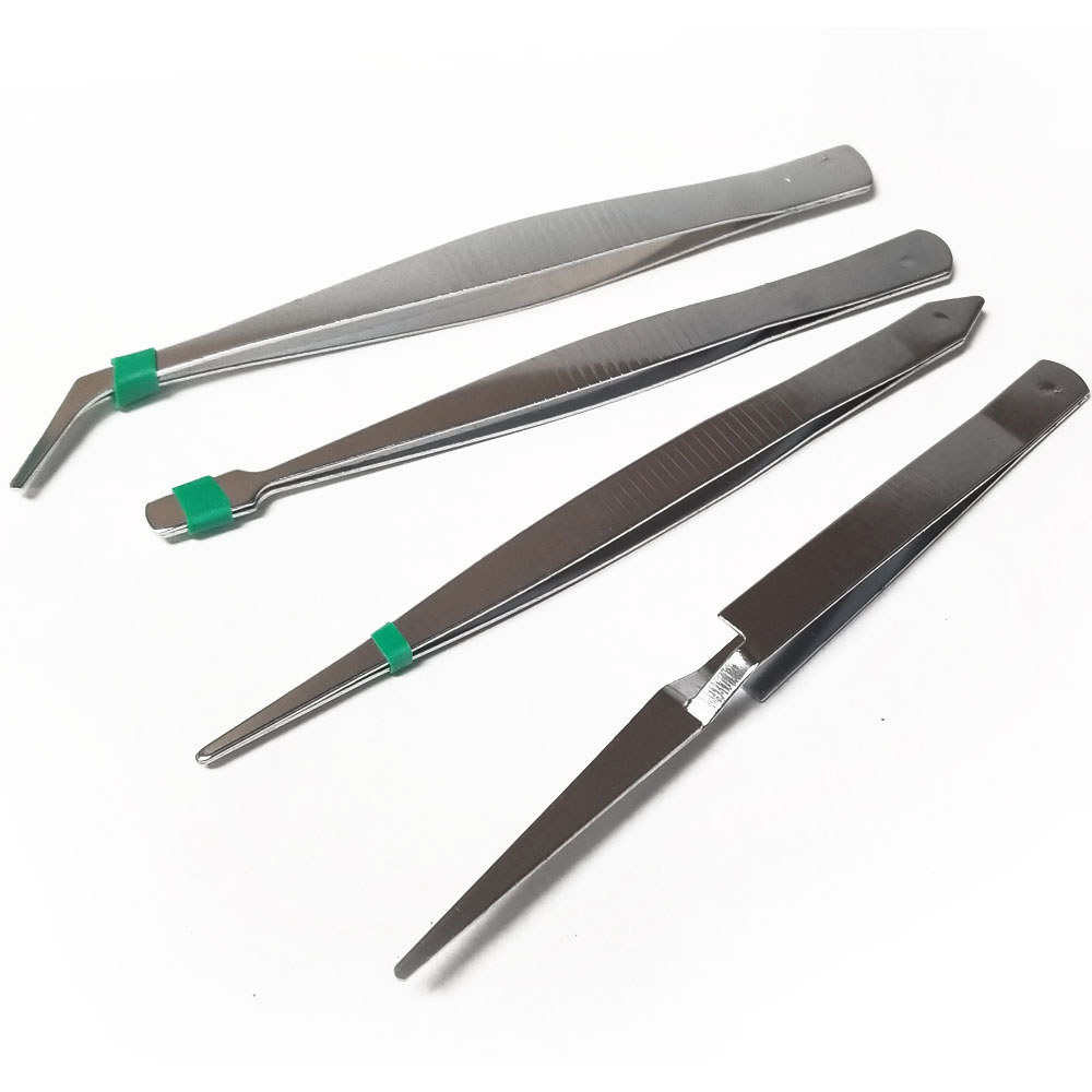 61-3350 - Steel Tweezers 4 Pack