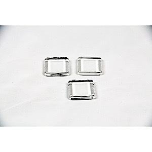 Square glass tiles 3 pcs
